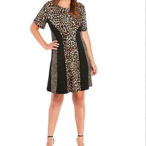 Michael Kors Midi Dress Leopard Print Size XL